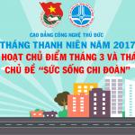 Hướng dẫn tổ chức sinh hoạt chi đoàn chủ điểm Tháng 3 và Tháng 4/2017