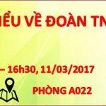 """Lớp """"Tìm hiểu về Đoàn Thanh niên Cộng sản Hồ Chí Minh"""" cho thanh niên và kết nạp đoàn viên mới lần 2, năm học 2016 – 2017"""